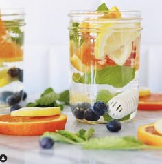 Skip sugary drinks and top up your water with healthy fruits, berries, herbs and even veggies. Healthy Water, Healthy Fruits, Infused Water, Fun Drinks, Drinking Water, Food Grade, Watermelon, Berry, Veggies