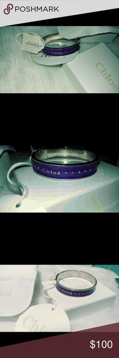 NWT Chloe Bangle Bracelet Brand new, never worn high end designer. Original tag price $203. Tag is attached. Comes with a box and duffle bag. Minor stains inside the Bracelet due to siting in the box. Chloe Jewelry Bracelets