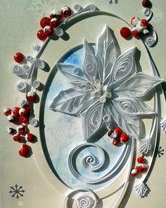 Quilling Seasons: Christmas (Boże Narodzenie) Quilling Christmas, Christmas Wrapping, Christmas Crafts, Quilling Paper Craft, Paper Crafts, Diy Crafts, Quilling Designs, Quilling Ideas, White Christmas