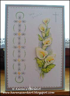 Karen's cardart: Own stitching patterns