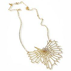 Radiolaria Pendant Gold-Plated - #forHer #jewels