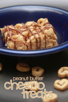 Peanut Butter Cheerio Treats. As easy as Krispie treats, but so much better!