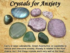 Anxiety Crystal Healing- need to do this. Ive also found that placing Quartz over my sternum helps as well.
