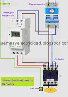 Esquemas eléctricos: Interruptor reloj horario maniobra