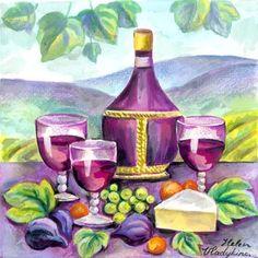 Red wine cheese  and fruit   Medium  ELENA VLADYKINA