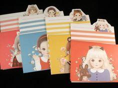 Pretty Girl Doll Stationery - Korean Letter Set - Kawaii writing paper