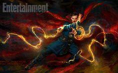 La revista Entertainment Weekly de esta semana muestrauna nueva imagen de Benedict Cumberbatch como el Doctor Strange, creada por el artistaRyan Meinerding, quien ha estado a cargo del Arte Conce…