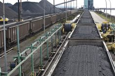 Trains deliver coal from mines in the Powder River Basin and Canada to an unloading facility at a coal terminal at Roberts Bank, B.C., just north of the U.S. border. Six terminals are proposed in Oregon and Washington for coal shipments to Asia. Coal-filled trains headed to some of those proposed terminals would pass through Clark County.