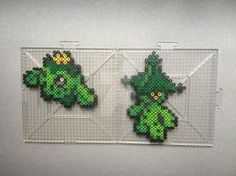 #331-332 Cacnea and Cacturne Perlers by TehMorrison