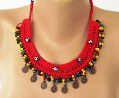 Crochet Necklace Crochet Headb |