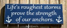 beach décor inspirational beach wall art decorations nautical coastal distressed rustic signs beach plaque lifes roughest storms prove strength of our anchors