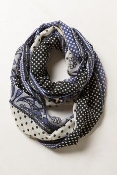 dotted infinity scarf / anthropologie