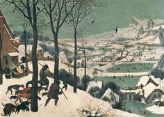Hunters in the Snow - February, 1565 Art Print by Pieter Brueghel The Elder at King & McGaw