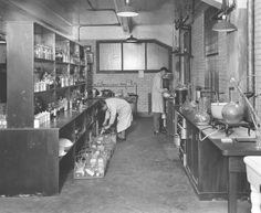 Strong Memorial Hospital - A view of the Hospital's pharmacy photographed in 1927.