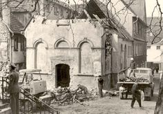 November 9-10, 1938 Wiesloch, Germany - A ruined synagogue as a result of Kristallnacht, a pogrom against Jews.