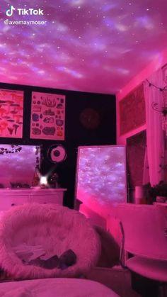 Neon Bedroom, Room Design Bedroom, Room Ideas Bedroom, Girls Bedroom, Bedrooms, Dope Rooms, Chill Room, Retro Room, Indie Room