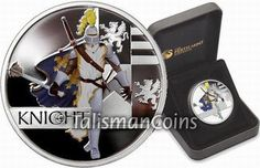 Tuvalu 2010 Great Warriors #3 - Medieval Knight $1 Pure Silver Dollar Proof with Color