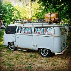 Woohoo - the bus is famous! Volkswagen Transporter, Vw T1 Camper, Volkswagen Bus, Station Wagon, Old Trucks, Pickup Trucks, T1 T2, Vw Classic, Motorcycle Camping