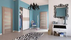 Foliované dveře ACCRA  Jedná se o panelové dveře potažené velice kvalitní a odolnou fólií v nepřeberném množství dekorů. Na výběr jsou různé varianty rozložení a prosklení. cena od 4 553 Kč | KOMPLET (obložka + dveře + klika) od 7 358 Kč Accra, Bathroom Lighting, Kids Rugs, Mirror, Furniture, Home Decor, Bathroom Light Fittings, Bathroom Vanity Lighting, Decoration Home