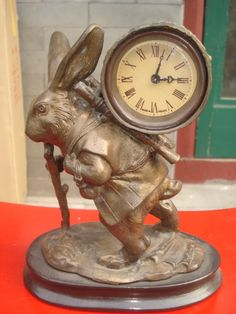 Copper Rabbit Clock, reminds me of the rabbit from Alice in Wonderland