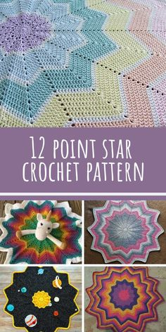 Crochet Afghans Patterns So many different blankets from the same 12 point star crochet blanket pattern! - When we spotted this gorgeous 12 point star crochet blanket we knew we had to share it with you! This baby blanket will make a fabulous shower gift. Crochet Afghans, Crochet Star Blanket, Crochet Star Patterns, Star Baby Blanket, Crochet Baby Blanket Free Pattern, Crochet Ripple, Crochet For Beginners Blanket, Crochet Stars, Afghan Crochet Patterns