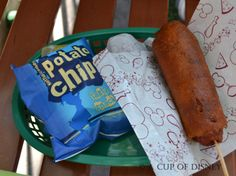 Top 10 Best Foods at Disneyland | LA Foodie.  Corn Dog by end of main street