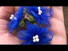 Elif Tıraş - YouTube Nylon Flowers, Organza Flowers, Cloth Flowers, Diy Flowers, Fabric Flowers, Paper Flowers, Ribbon Crafts, Flower Crafts, Ribbon Flower Tutorial