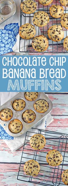 Banana Bread Muffins: One bowl, mix by hand muffins. Your favorite bread in muffin form. {Bunsen Burner Bakery}