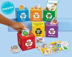 Recycling. This gives me a cool idea for reusing some small boxes we have (ice cream cone drumstick boxes and tissue boxes)