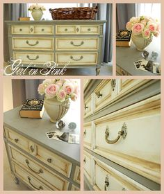 ASCP Paris Grey and Old White dresser/credenza by Girl in Pink