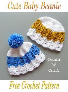 Crochet Baby Sweaters, Crochet Baby Bonnet, Crochet Baby Beanie, Baby Beanie Hats, Crochet Baby Clothes, Crochet Hats, Crochet Cardigan, Crochet Stitches Free, Free Crochet