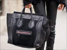 #Celine boston tote suede/leather