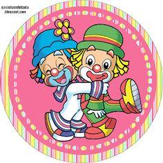 Kit Festa Patati Patata Para Menina Grátis Circus Birthday, Circus Theme, 2nd Birthday Parties, Clown Crafts, Pierrot Clown, Cute Clown, Send In The Clowns, Bird Party, Free Boxes