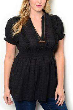 http://www.dhstyles.com/Black-Plus-Size-Dressy-Sheer-Flowy-Smocked-Pintuck-p/zeno-1549x-black.htm