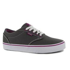 a1562af81c Vans Womens Atwood Ladies Lace Up Trainers Casual Shoes Flats Canvas  Sneakers