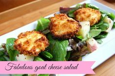 Delicious goat cheese salad.