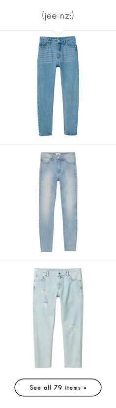 """""""(jee-nz;)"""" by ladykrystal ❤ liked on Polyvore featuring men's fashion, men's clothing, men's jeans, jeans, pants, bottoms, clothes - pants, dolce gabbana mens jeans, mens light blue jeans and mens super skinny jeans"""