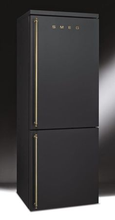Matte black fridge by Smeg. Smeg is an Italian home appliance manufacturer based in Guastalla, near Reggio Emilia in the north of the country. i want this for my home
