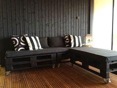 Villa Sundeck: DIY: lavoista sohva terassille