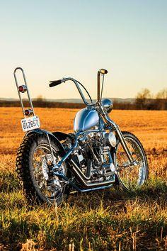 """Tate Digger"" Harley-Davidson FL 1975 ""Shovelhead"" rigid chopper by Butcher Chop | Photography by Billy Childress | via StreeChopperWeb.com"