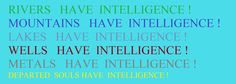 HUMAN  EXISTENCE  IS  ABOUT  EXISTENCE  OF  INTELLIGENCE !