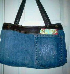 upcycled denim skirt purse skirt