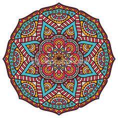 Round ornament in ethnic style. — Ilustração de Stock #76352985
