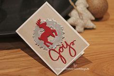 Weihnachtskarte Thinlits Formen Weihnachtsschlitten Stampin Up