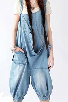 Oversized Denim Jumpsuit
