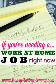 Find Work at Home Now