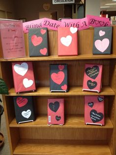 """Our """"Blind Date with a Book Display. Oak Grove Public Library"""