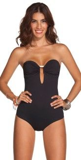 Ondade Mar $170 - strapless one piece. Great, sexy new mom beach wear...