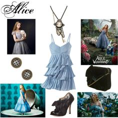 New Alice by kristinlynette on Polyvore featuring polyvore, fashion, style, Badgley Mischka, Dorothy Perkins, Disney Couture and Burton