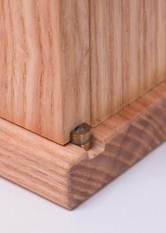 Hinge detail, Entry cabinet